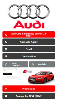Audi visual IVR mobile application - Star Phone official website