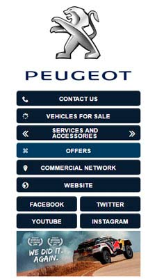 Peugeot visual IVR mobile application - Star Phone official website
