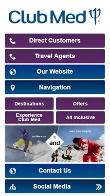 Club Med visual IVR mobile application - Star Phone official website